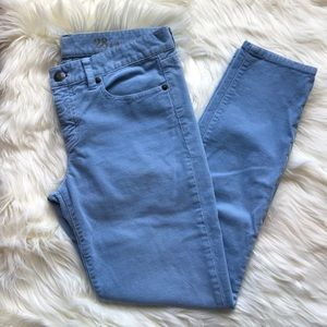J. Crew Toothpick Ankle Cords in Baby Blue